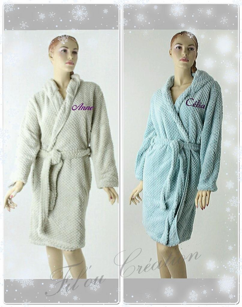 peignoir femme capuche en microfibre polaire personnalis robe de chambre polaire personnalis e. Black Bedroom Furniture Sets. Home Design Ideas